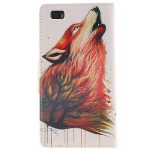 Leathy PU kožené pouzdro na Huawei P8 Lite - magický vlk - 2