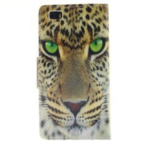 Leathy PU kožené pouzdro na Huawei P8 Lite - gepard - 2