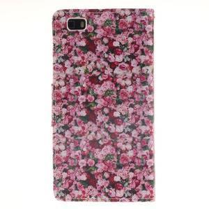 Leathy PU kožené pouzdro na Huawei P8 Lite - růže - 2