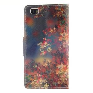 Leathy PU kožené pouzdro na Huawei P8 Lite - podzimní zátiší - 2
