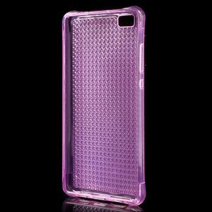 Diamonds gelový obal na Huawei P8 Lite - rose - 2