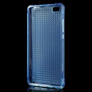 Diamonds gelový obal na Huawei P8 Lite - modrý - 2