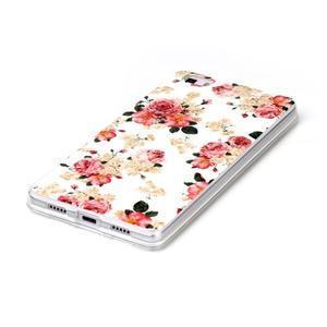 Softy gelový obal na mobil Huawei P8 Lite - květiny - 2