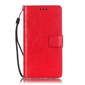 Magicfly PU kožené pouzdro na Huawei P8 Lite - červené - 2