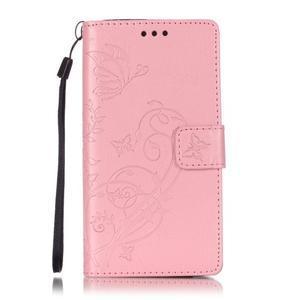 Magicfly PU kožené pouzdro na Huawei P8 Lite - růžové - 2