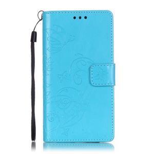 Magicfly PU kožené pouzdro na Huawei P8 Lite - modré - 2