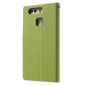 Diary PU kožené pouzdro na mobil Huawei P9 - zelené - 2