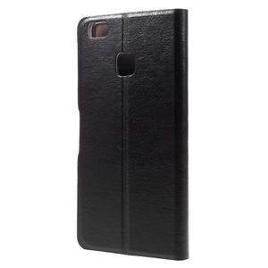 Horse PU kožené pouzdro na mobil Huawei P9 Lite - černé - 2