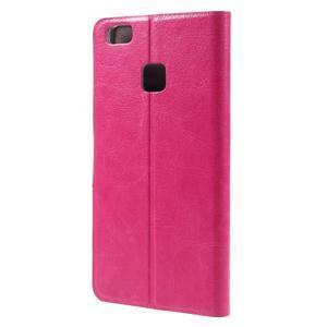Horse PU kožené pouzdro na mobil Huawei P9 Lite - rose - 2