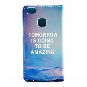 Knížkové pouzdro na mobil Huawei P9 Lite - tomorrow - 2