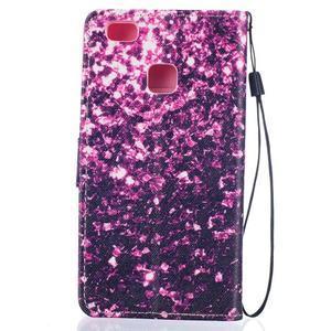 Peněženkové PU kožené pouzdro na Huawei P9 Lite - purple - 2