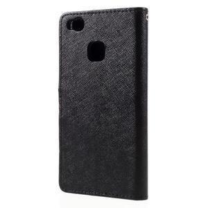 Easy peněženkové pouzdro na mobil Huawei P9 Lite - černé - 2