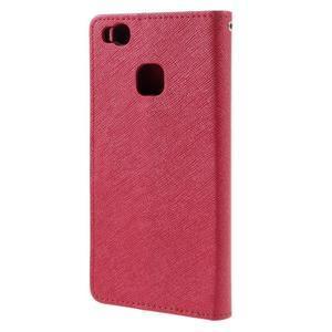 Easy peněženkové pouzdro na mobil Huawei P9 Lite - červené - 2