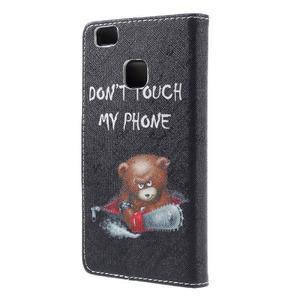 Richi PU kožené pouzdro na Huawei P9 Lite - medvídek - 2