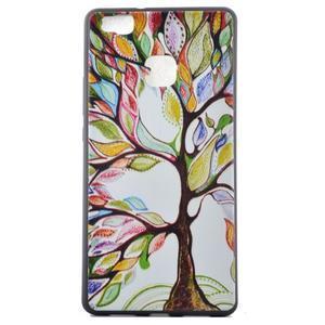 Softy gelový obal na mobil Huawei P9 Lite - barevný strom - 2