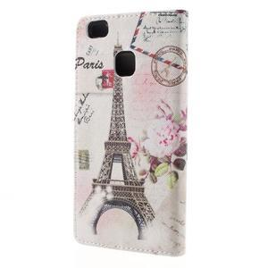 Richi PU kožené pouzdro na Huawei P9 Lite - Eiffelova věž - 2