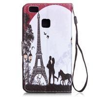 Emotive pouzdro na mobil Huawei P9 Lite - láska pod Eiffelovkou - 2/6