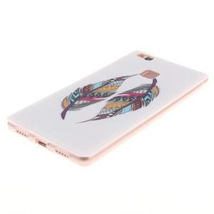 Gelový obal na Huawei P9 Lite - barevná peříčka - 2