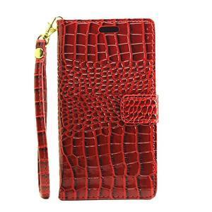 Croco peněženkové pouzdro na mobil Huawei P9 Lite - červené - 2