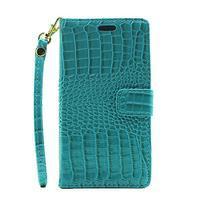 Croco peněženkové pouzdro na mobil Huawei P9 Lite - modré - 2/7