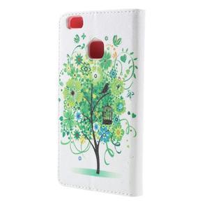 Richi PU kožené pouzdro na Huawei P9 Lite - zelený strom - 2