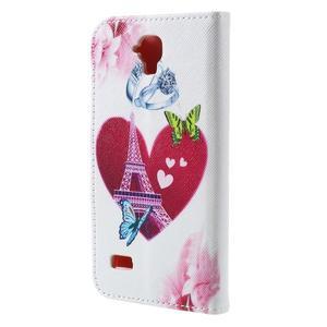 Emotive PU kožené pouzdro na Huawei Y5 - srdce Eiffelky - 2