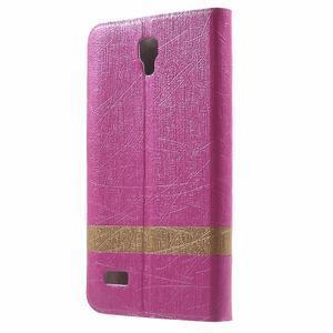 Lines knížkové pouzdro na Huawei Y5 a Y560 - rose - 2