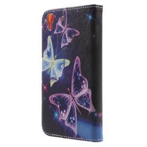 Emotive pouzdro na mobil Huawei Y6 - kouzelní motýlci - 2