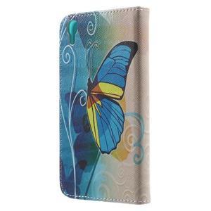 Emotive pouzdro na mobil Huawei Y6 - modrý motýl - 2