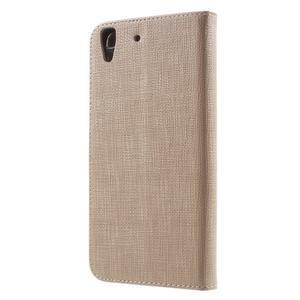 Clothy PU kožené pouzdro na Huawei Y6 - champagne - 2