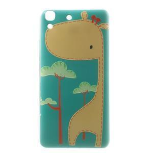 Softy gelový obal na mobil Huawei Y6 - žirafa - 2