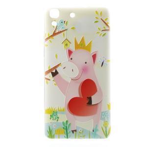 Softy gelový obal na mobil Huawei Y6 - zamilované prasátko - 2