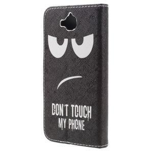 Emotive peněženkové pouzdro na mobil Huawei Y6 Pro - nešahat - 2