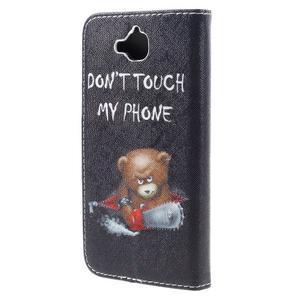 Emotive peněženkové pouzdro na mobil Huawei Y6 Pro - nedotýkat se - 2