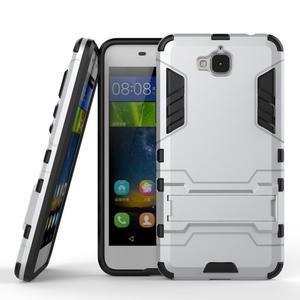 Outdoor odolný obal na mobil Huawei Y6 Pro - stříbrný - 2