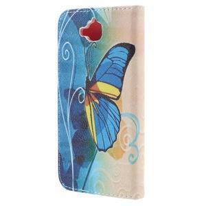 Emotive peněženkové pouzdro na mobil Huawei Y6 Pro - modrý motýl - 2