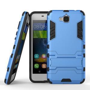 Outdoor odolný obal na mobil Huawei Y6 Pro - modrý - 2