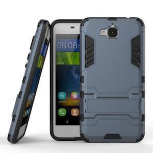 Outdoor odolný obal na mobil Huawei Y6 Pro - šedomodrý - 2