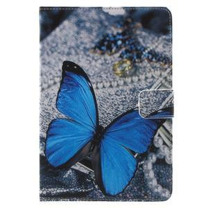 Stylové pouzdro na iPad mini 4 - modrý motýl - 2