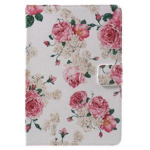 Stylové pouzdro na iPad mini 4 - květiny - 2