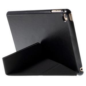 Origami polhovatelné pouzdro na iPad mini 4 - černé - 2