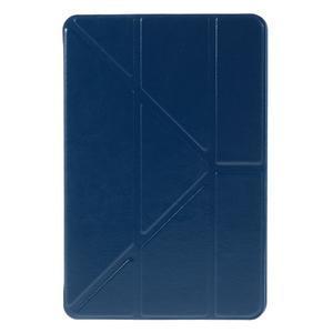 Origami polhovatelné pouzdro na iPad mini 4 - tmavěmodré - 2