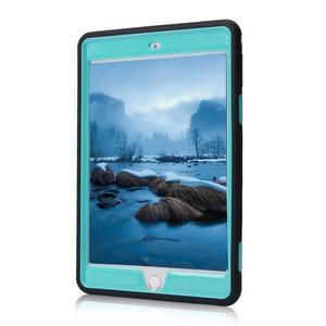 Vysoce odolný silikonový obal na tablet iPad mini 4 - černý/cyan - 2