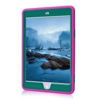 Vysoce odolný silikonový obal na tablet iPad mini 4 - rose/zelený - 2/6