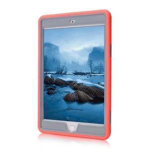 Vysoce odolný silikonový obal na tablet iPad mini 4 - oranžový/šedý - 2