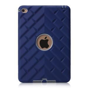 Vysoce odolný silikonový obal na tablet iPad mini 4 - tmavěmodrý/šedý - 2