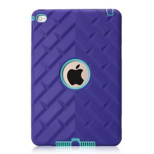 Vysoce odolný silikonový obal na tablet iPad mini 4 - fialový/cyan - 2