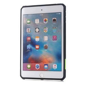 Outdoor dvoudílný gelový/plastový obal na iPad mini 4 - zelený - 2