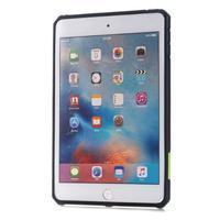 Outdoor dvoudílný gelový/plastový obal na iPad mini 4 - zelený - 2/5