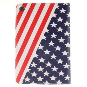 Standy pouzdro na tablet iPad mini 4 - US vlajka - 2